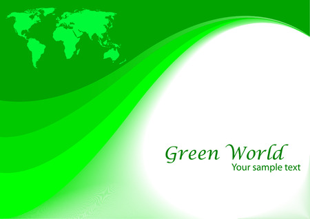 vector green background; clip-art Vector