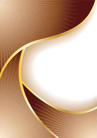 Vector abstract chocolate banner; clip-art Vector