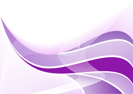 Vector violet abstract wave; clip-art Vector