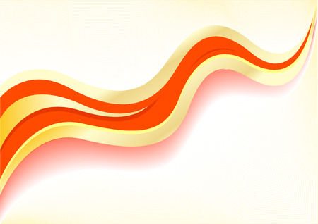 Vector wave red abstract background; clip-art Vector