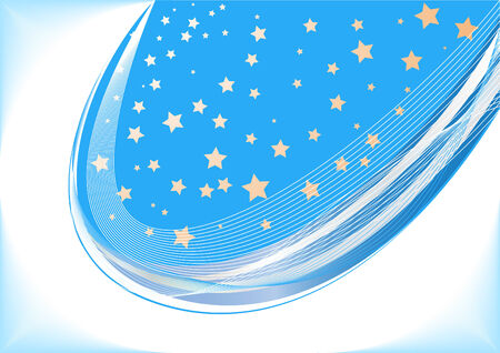 Vector blue background with star; clip-art Vector