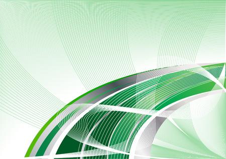 Vector green abstract background; clip-art Vector