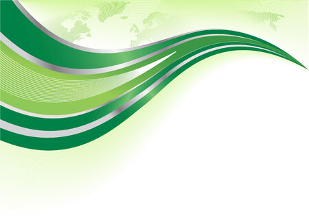Vector green background with world map; clip-art Vector