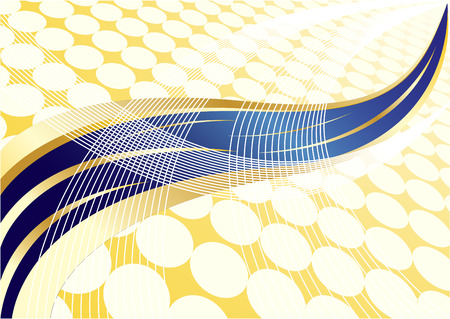 Vector abstract gold and blue background with dot; clip-art Vector