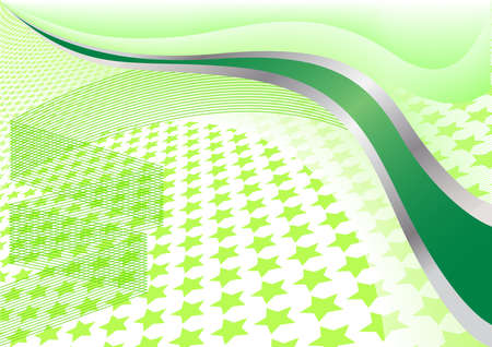 Vector green background with star; clip-art Vector