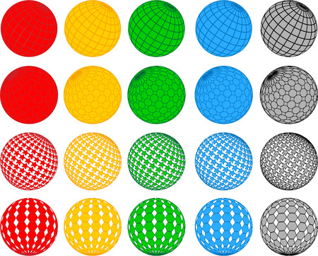 Vector disco ball collection; clip-art Vector