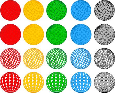 glass ball: Vector disco ball collection; clip-art
