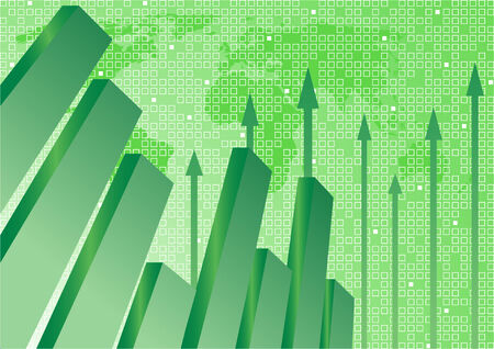 Vector background with diagram in green color; clip-art Vector