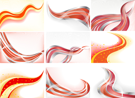 Vector collection abstract background; clip-art