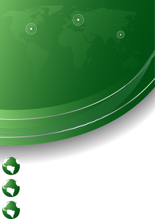 Vector abstract template in green color; clip-art Stock Vector - 5113492