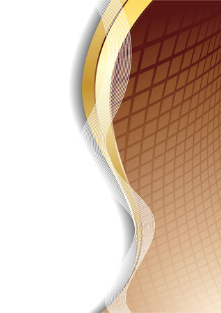 Vector abstract chocolate background; clip-art Stock Vector - 5113451