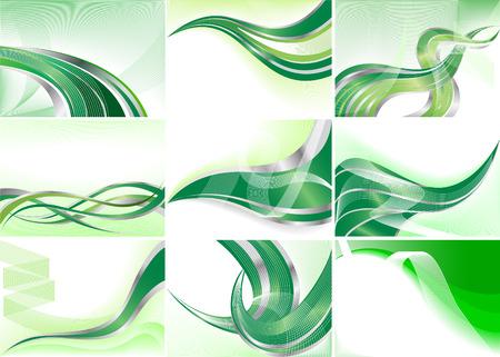 Vector collection green background; clip-art Vector