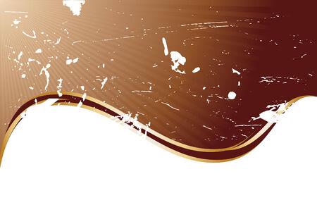 Vector grunge chocolate background; clip-art Vector
