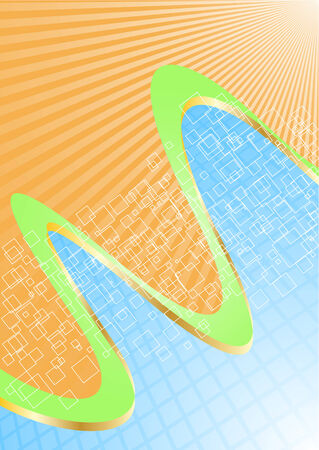 girds: Vector abstract green background; clip-art