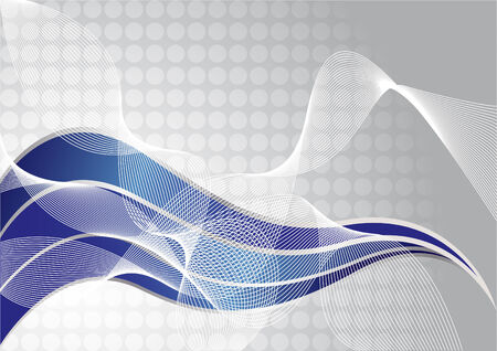 blue swirls: Vector abstract tech background; clip-art Illustration