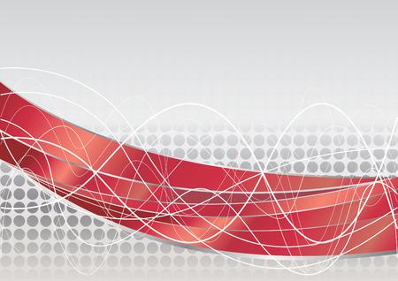 Vector red tech background; clip-art Vector