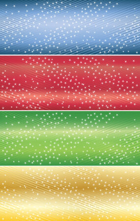 Vector abstract banners with star; clip-art Vector