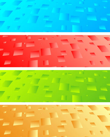 Vector abstract banners; clip-art Stock Vector - 5342490