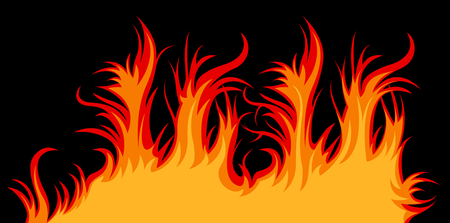 Vector fire; clip-art Stock Vector - 5342491