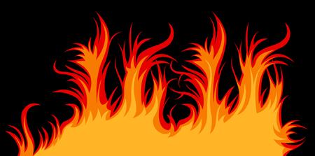 Vector fire; clip-art Stock Vector - 5342491