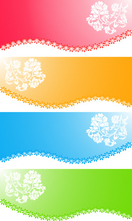 Vector flower banners; clip-art Vector