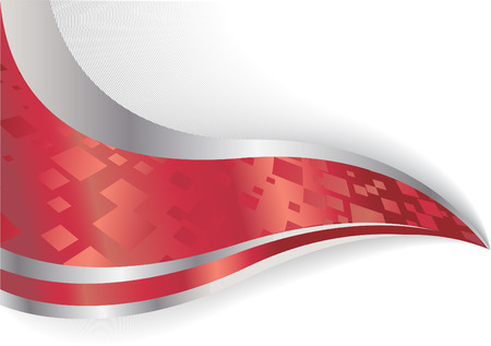 Vector abstract background in red color; clip-art Stock Vector - 5342503