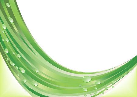 Vector abstract green background; clip-art Vector