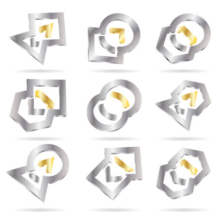 Vector abstract icon; clip-art Vector
