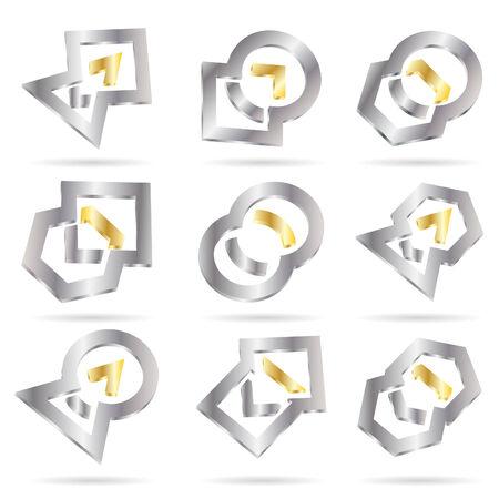 Vector abstract icon; clip-art Vector