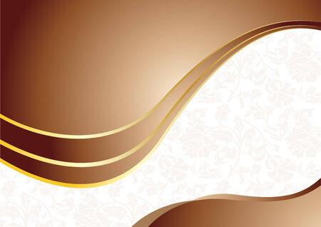 Vector chocolate background with golden element Vector