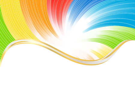 Vector abstract background in bright color; clip-art Vector