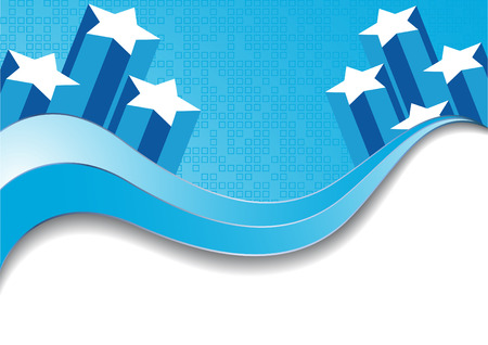 Vector abstract blue background; clip-art Illustration
