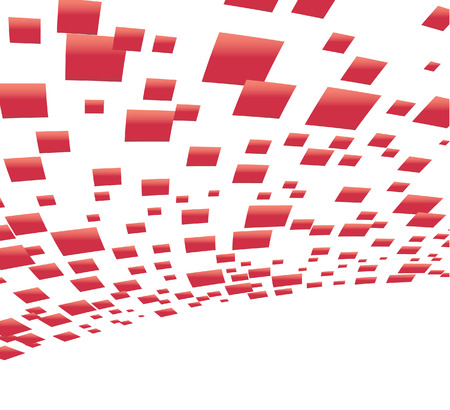 Vector background with red squares; clip-art Illustration