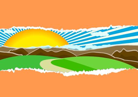 Vector nature concept; clip-art Vector