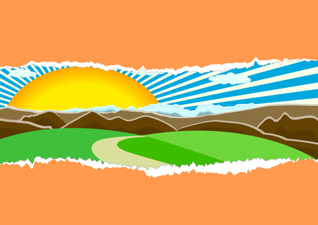 skyblue: Vector nature concept; clip-art