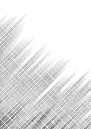 silver background: Vector abstract silver background with square; clip-art Illustration
