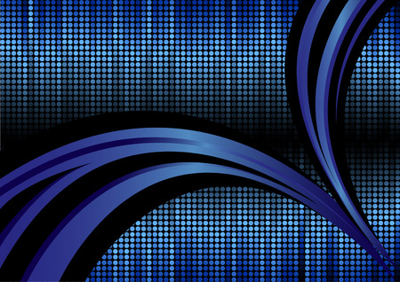 girds: Vector abstract background in blue color; clip-art