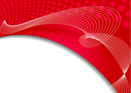 Vector abstract background in red color; clip-art Vector
