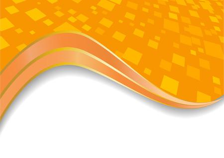 Vector orange background; clip-art