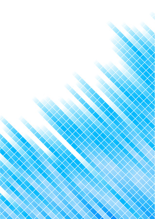 Vector abstract blue background with square; clip-art