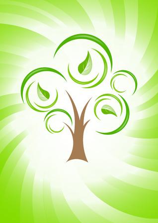 Vector green concept; clip-art Vector