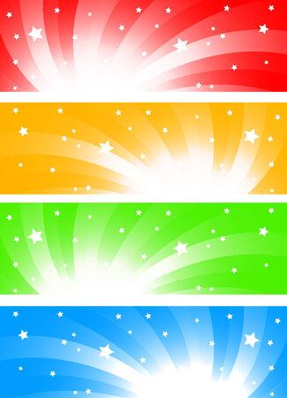depliant: Vector colorful banners; clip-art Illustration