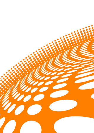 girds: Vector abstract orange background; clip-art