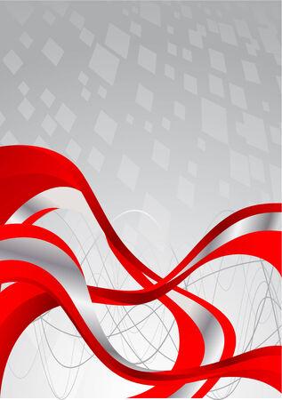 Vector bright tech background; clip-art Illustration