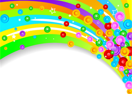Vector colorful background with circles; clip-art Stock Vector - 5851348