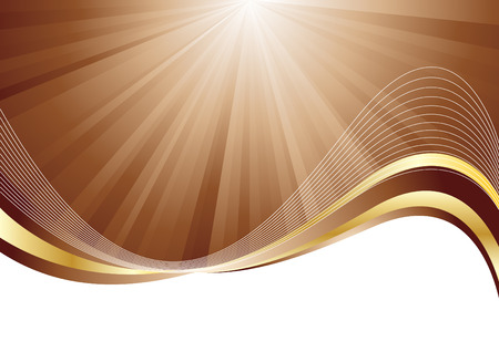 Vector chocolate background; clip-art Stock Vector - 5851351