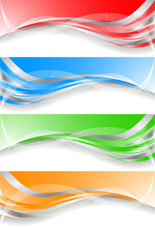 vector banners: Vector colorful banners; clip-art Illustration