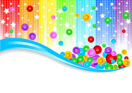 rainbow colours: Vector abstract colorful background; clip-art Illustration
