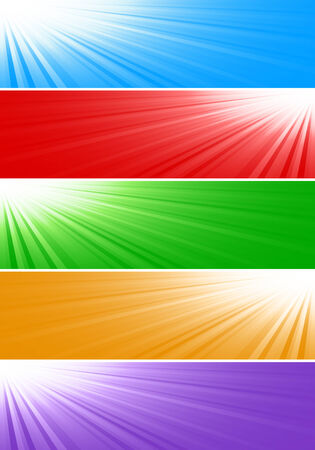 depliant: Vector bright banners; clip-art