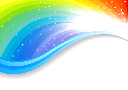 rainbow color star: Vector colorful background; clip-art
